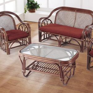 籐 ガラステーブル ラタン製 幅89cm ( アジアン家具 ラタン家具 テーブル ) interior-palette 06