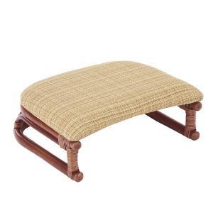 籐 正座椅子 座面布張り クッション付 SA206DB 幅45cm