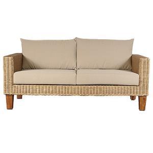 籐 ソファ 2人掛け ラタン製 幅161cm ( アジアン家具 籐家具 ソファー )|interior-palette