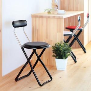 折りたたみ椅子 キャプテンチェア ブラック ( 折りたたみチェア 椅子 チェア )|interior-palette