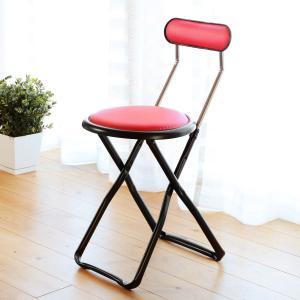折りたたみ椅子 キャプテンチェア レッド ( 折りたたみチェア 椅子 チェア )|interior-palette