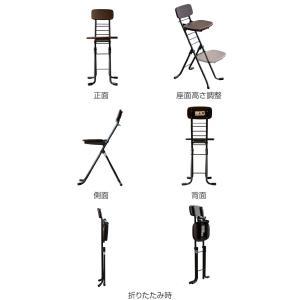 折りたたみ椅子 リリィチェア 6段階調節 ダークブラウン ( チェア イス )|interior-palette|03
