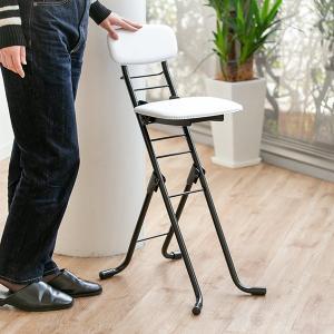 折りたたみ椅子 リリィチェア クッションタイプ 6段階調節 ホワイト ( チェア イス )|interior-palette