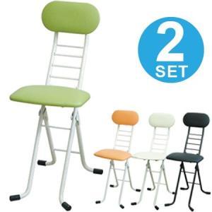 折りたたみ椅子 ワーキングチェア ジョイ 2脚セット 座面高さ調節 ( カウンターチェア デスクチェア ) interior-palette