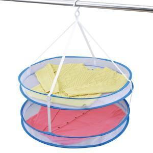 折りたたみ式 平干しネット 2段 平干し ネット 洗濯ハンガー 物干しネット ( 物干しネット 洗濯用品 洗濯グッズ )|interior-palette