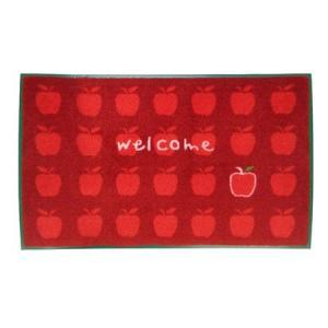 玄関マット 屋内 りんごがいっぱい 45×75cm ( 玄関 マット 洗える )|interior-palette