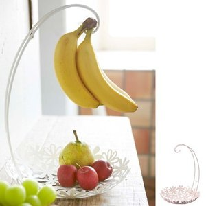 バナナハンガー バナナスタンド&フラワーバスケット フルーツバスケット ( バナナスタンド キッチン収納 キッチン雑貨 山崎実業 )|interior-palette