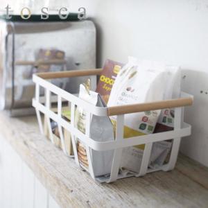 収納バスケット トスカ tosca ストレージバスケット ( キッチン収納 戸棚 キッチン雑貨 山崎実業 )|interior-palette