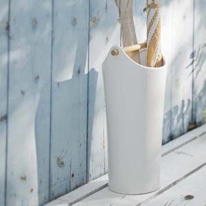 【週末限定クーポン】傘立て 陶器傘立て コモ ホワイト ( 傘 スタンド 玄関 収納 )|interior-palette