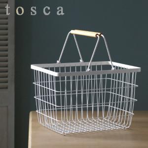 ランドリーバスケット トスカ tosca M ( 洗濯かご ワイヤー おしゃれ 山崎実業 )|interior-palette