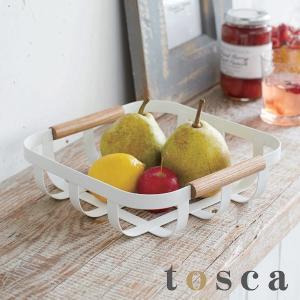 小物収納 キッチンバスケット トスカ tosca S ( ストッカー 収納 バスケット 収納かご 収納カゴ 山崎実業 )|interior-palette