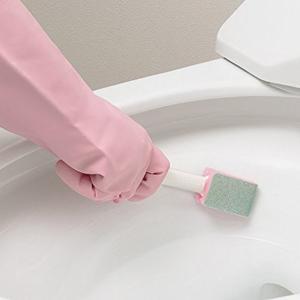 トイレブラシ おまかせください トイレ用 2本入り 柄付きタイプ