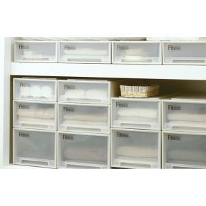 収納ケース Fits フィッツ フィッツケース ロング 引き出し プラスチック 同色4個セット ( 収納 収納ボックス 衣装ケース ホワイト 押入れ収納 引出し )|interior-palette|06