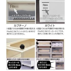 収納ケース Fits フィッツ フィッツケース ロング 引き出し プラスチック 同色4個セット ( 収納 収納ボックス 衣装ケース ホワイト 押入れ収納 引出し )|interior-palette|07