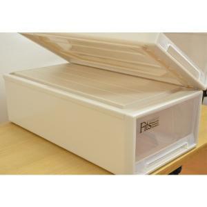 収納ケース Fits フィッツ フィッツケース ロング 引き出し プラスチック 同色4個セット ( 収納 収納ボックス 衣装ケース ホワイト 押入れ収納 引出し )|interior-palette|08