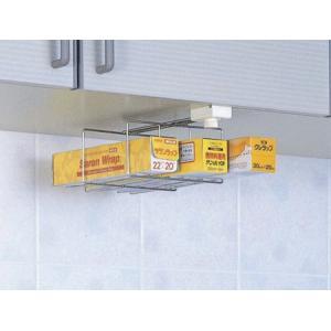 吊戸はさみ用 ラップホルダー( キッチン 収納 吊り戸棚下 ラック )の写真