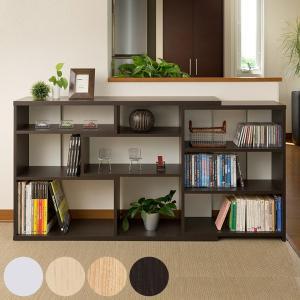 カウンター下 収納棚 レギュラータイプ 高さ80cm 幅118〜155cm 伸縮機能 ( 本棚 収納ラック ) interior-palette