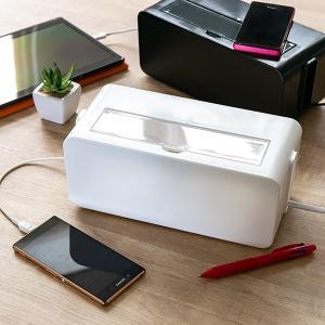 ケーブルボックス タップ 長さ25cm 対応 タップ収納 コード 収納 収納ボックス ( ケーブル収納 タップボックス コード収納 プラスチック おしゃれ 日本製 )|interior-palette