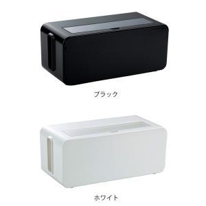 ケーブルボックス タップ 長さ25cm 対応 タップ収納 コード 収納 収納ボックス ( ケーブル収納 タップボックス コード収納 プラスチック おしゃれ 日本製 )|interior-palette|04