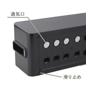 ケーブルボックス タップ 長さ25cm 対応 タップ収納 コード 収納 収納ボックス ( ケーブル収納 タップボックス コード収納 プラスチック おしゃれ 日本製 )|interior-palette|08