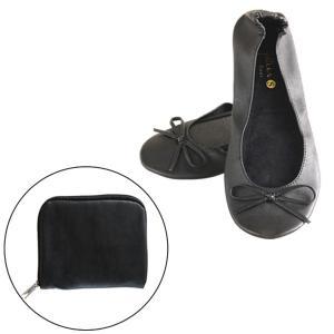 携帯スリッパ 携帯シューズ プリエ ドゥー ブラック ( 携帯 スリッパ 黒 )|interior-palette