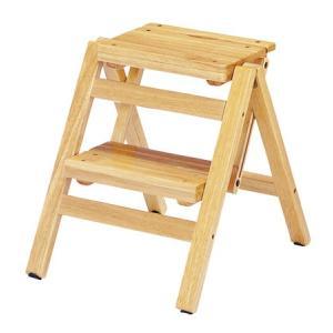 ステップチェア 折りたたみ式 2段 木目 ナチュラル( 踏み台 踏台 脚立 椅子 イス 木製 )|interior-palette