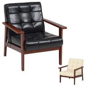 ソファ 椅子 1人掛け シャーク レザー調 合皮 肘付き ( ビンテージ家具風 ソファー )|interior-palette