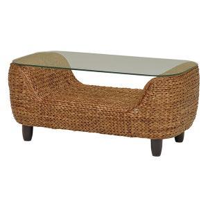 【週末限定クーポン】ローテーブル ローズマリー ウォーターヒヤシンス製 ( アジアン家具 ホテイアオイ )|interior-palette