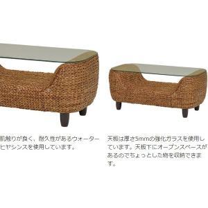 【週末限定クーポン】ローテーブル ローズマリー ウォーターヒヤシンス製 ( アジアン家具 ホテイアオイ )|interior-palette|04