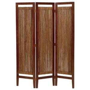 【48時間限定クーポン】スクリーン 衝立 3連 グランツ アバカ素材 ( アジアン家具 マニラ麻 )|interior-palette
