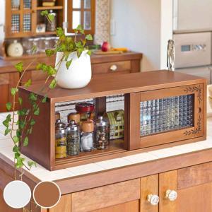 ガラスケース アンティーク調 カウンター上収納 幅60cm ( ディスプレイケース コレクションケース ディスプレイラック コレクションボード ) interior-palette