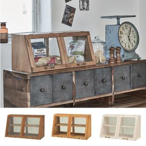 ガラスケース 2段 アンティーク調 ショーケース 幅60cm ( ディスプレイケース コレクションケース ディスプレイラック コレクションボード ) interior-palette