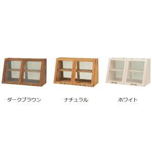 ガラスケース 2段 アンティーク調 ショーケース 幅60cm ( ディスプレイケース コレクションケース ディスプレイラック コレクションボード ) interior-palette 03