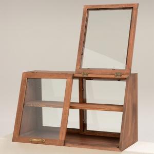 ガラスケース 2段 アンティーク調 ショーケース 幅60cm ( ディスプレイケース コレクションケース ディスプレイラック コレクションボード ) interior-palette 05