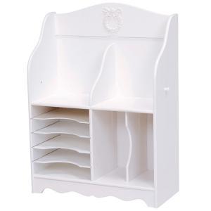 ランドセルラック クラシック調 ヴィオレッタ ロマンチック 幅68cm 棚タイプ ( ランドセル 収納 ジュニア 子供部屋 姫系 白家具 VIOLETTA )|interior-palette