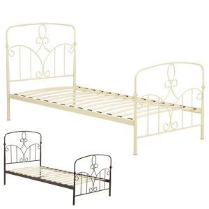 ベッド シングルベッド アイアン アンティーク調 ロマンチック 幅103cm ( ベッドフレーム シングル アイアンベッド スノコベッド )|interior-palette