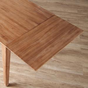 エクステンション ダイニングテーブル用 T760XP専用 木製 天然木 Natural rattan 幅40cm ( 天板 チーク材 無垢材 ナチュラル )|interior-palette