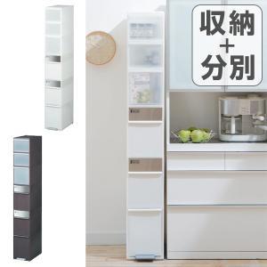 ゴミ箱 分別 スイングストッカーワイド 3段 ( ゴミ箱 ダストボックス キッチンストッカー ペダル 縦型 キッチン 隙間 省スペース 大容量 )|interior-palette