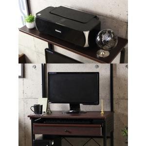 【週末限定クーポン】PCデスク パソコン机 引出し付き スチールフレーム製 幅75cm ( スライドトレー付き パソコンデスク )|interior-palette|05