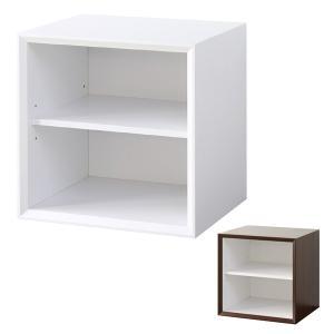 キューブボックス 棚タイプ 収納ボックス 36cm角 奥行き30cm ( カラーボックス 小物入れ 収納 棚 ボックス 組み合わせ 木製 シンプル )|interior-palette