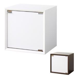キューブボックス 扉付き 収納ボックス 36cm角 奥行き30cm ( カラーボックス 小物入れ 収納 棚 ボックス 組み合わせ 木製 シンプル )|interior-palette