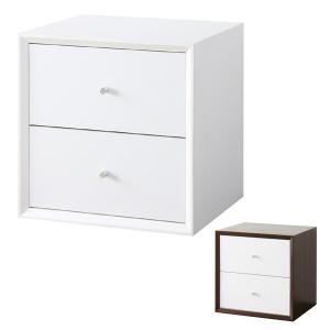 キューブボックス 引出しタイプ 収納ボックス 36cm角 奥行き30cm ( カラーボックス 小物入れ 収納 棚 ボックス 組み合わせ 木製 シンプル )|interior-palette