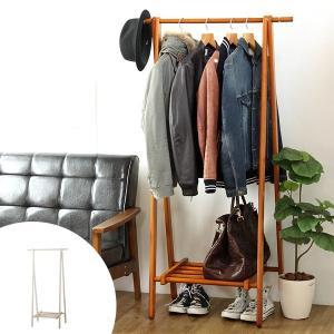 ハンガーラック 天然木製 幅80cm ( コートハンガー 木製 ハンガー ラック 玄関収納 コート掛け )|interior-palette