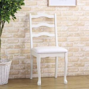 デスクチェア 木製 椅子 アンティーク調 姫系 座面高48.5cm ( チェア イス 椅子 )|interior-palette