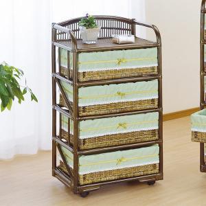 【48時間限定クーポン】ラタンチェスト 4段 ランドリーチェスト 籐家具 幅60cm|interior-palette