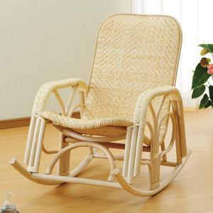 【48時間限定クーポン】ロッキングチェア ラタン 座椅子 アジロ編み 籐家具 幅60cm(  ラタン 椅子 イス いす チェアー チェア )|interior-palette