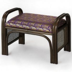 【48時間限定クーポン】ラタンチェア 金襴座椅子 お仏壇用 幅49cm|interior-palette