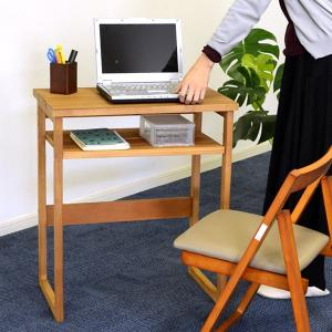 天然木デスク ワーキングデスク 幅60cm ( デスク テーブル 机 つくえ ) interior-palette
