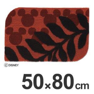 玄関マット スミノエ ミッキー ディズニー ローレルマット 50×80cm ワイン ( 室内 エントランスマット )|interior-palette