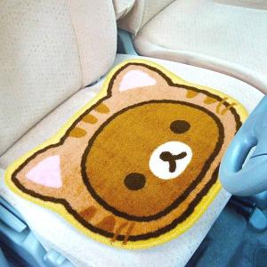 リラックマ シートマット のんびりネコテーマ ( カー 用品 のんびりネコ )|interior-palette